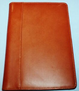 Cutter Buck Jr Padfolio Leather Cloth Caramel Brown Jotter Classic Notepad