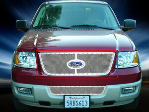 Fedar Fits 03 06 Ford Expedition Chrome Overlay Rivet Formed Mesh Grille Insert