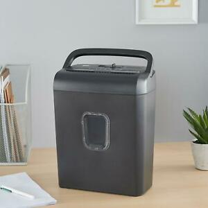 Paper Shredder Sheet Micro Cut With 3 4 gallon Collection Bin Black Home Office