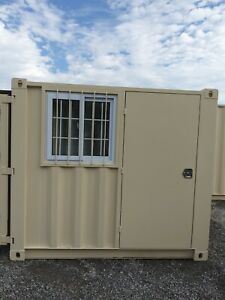 8 Shipping Container Conex Mobile Office Portable Guard Shack Tiny House 7863