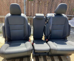 2020 Toyota Sienna 2nd Row Bench Seat In Black Leather