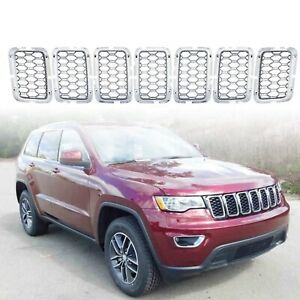 For 2017 2020 Jeep Grand Cherokee Chrome Honeycomb Mesh Grille Insert Grille