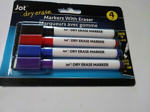 Jot Dry Erase Markers With Eraser