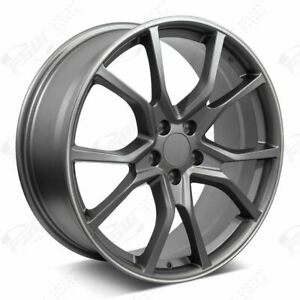 20 R Style Gunmetal Machined Stripe Wheels Fits Honda 5 lug Civic Accord