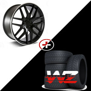 22 Amg Style Satin Black Wheels W Tires Fits Mercedes Ml300 Ml63 Gl63