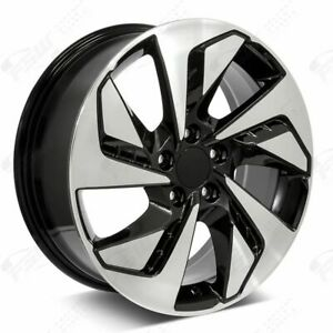 18 Crv Style Machined Black Wheels Fits Honda 5 lug Crv Civic Accord