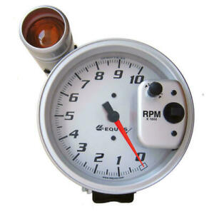 Equus Tachometer Gauge E5080 Shift Lite Tach 0 To 10000 Rpm 5 Silver Electric