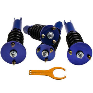 Twin Tube Damper Coilover Suspension Kits For Honda Accord 1990 1997 Blue