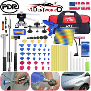 68pcs Pdr Tools Car Paintless Dent Removal Repair Puller Lifter Line Board Kit