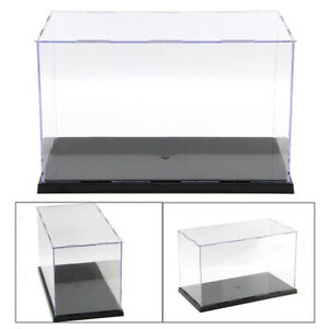 30cm Perspex Acrylic Display Case H Box Plastic Base Dustproof Figure Trophy