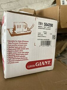 Little Giant Vcc 20uls 1 3 Gpm Thermoplastic Low Profile Condensate Removal