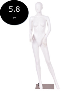 Mannequin Manikin Women Female Full Body Display With Metal Stand White 5 8 Ft