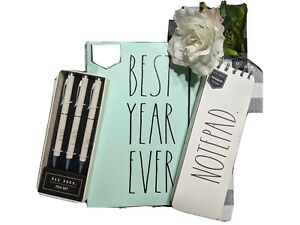 New Rae Dunn Desk Set 2021 best Year Ever Planner Pen Set note Pad
