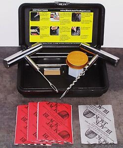Blackjack Kt 20sc Tire Repair Compact Kit Atv Car Lt Truck Chrome Tools 20 Plugs
