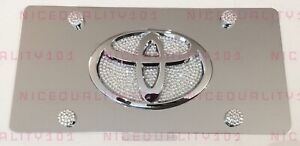 Toyota Bling Front Vanity Plate Frame Holder Made With Swarovski Crystals