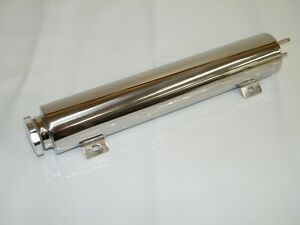 Radiator Overflow Tank Bottle Catch Can Polished Stainless Steel 3 X 16