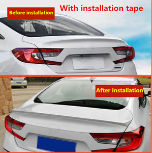 Fit For Honda Accord 2018 2020 Rear Trunk Lid Sport Style Spoiler Painted White