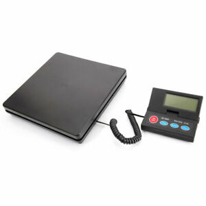 Portable Digital Plastic Electronic Shipping Mail Packages Scale Black 110lb New