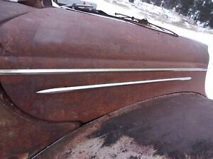 1939 Ford Deluxe Hood Side Molding Strips Set Of Four 4