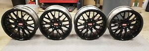 Bmw E28 M5 E24 M6 E30 M3 E39 530i Oem Rs740 Style 42 17x8 Wheels Rims Black
