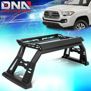 For 2005 2020 Toyota Tacoma Truck Bed Top Rack Roll Bar Luggage Carrier Box