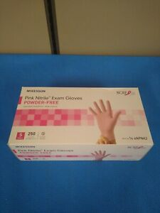 Mckesson 14 6npnk2 Pink Nitrile Exam Gloves Powder free Small Qty 250 Gloves