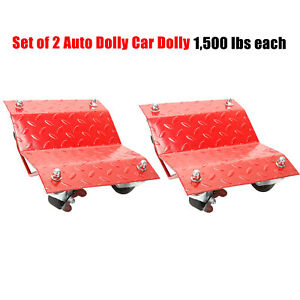 Set Of 2 Auto Dolly Car Dolly Wheel Tire 12 X16 Skate Repair Slide 3000lb