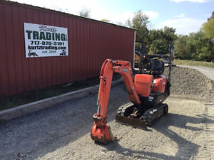 2014 Kubota Kx008 3 Hydraulic Mini Excavator Only 1100 Hours