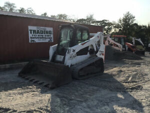 2017 Bobcat T650 Compact Track Skid Steer Loader W Cab Super Clean Only 1100hrs