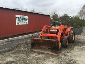 2008 Kubota L3400 4x4 Hydro Compact Tractor W Loader Only 1800 Hours