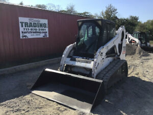 2008 Bobcat T190 Compact Track Skid Steer Loader W Cab One Owner 2700hrs