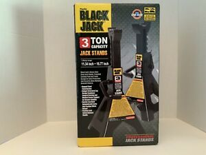 Pair Of Black Torin Jacks 3 Ton Jack Stand Heavy Duty Steel Lock Pawl