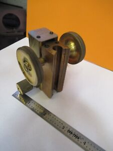 Antique Ernst Leitz Germany Brass Stage Microscope Part As Pictured 8m a 76b