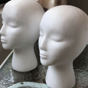 2pcs Diy Foam Head Model Scarf Display Model Mannequin Stand For Store Home