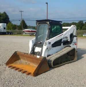 2015 Bobcat T770 Compact Track Skid Steer Loader A91 Cab 2spd High Flow Sjc