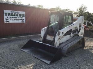 2012 Bobcat T770 Compact Track Skid Steer Loader A91 W Cab 2spd High Flow