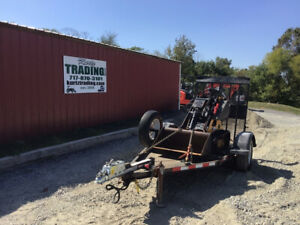 2014 Morbark Boxer 320 Track Stand On Skid Steer Loader W Trailer Only 1000hrs