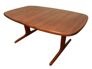 Skovby Danish Modern Teak Oval Dining Table Midcentury Mcm 1960s Extending