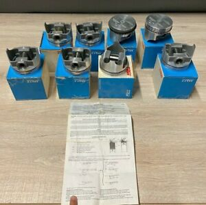 Lot Of 8 New In Boxes 302 Ford Forged Engine Pistons Trw L2482f Std Nos B146