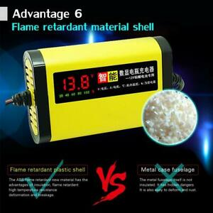 Car 12v 24v Automatic Pulse Repair Motorcycle Smart Battery Charger 3 Stage