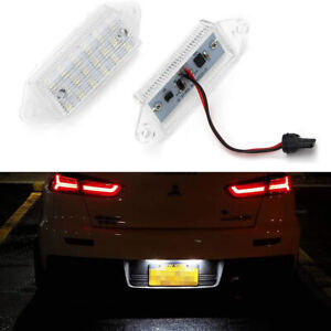 For Mitsubishi Lancer Evo Evolution X Xenon White Led License Plate Tag Light 2x