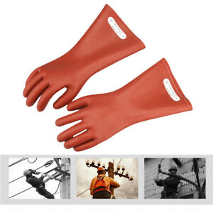 12kv Insulation Gloves Electrician Insulated Safety Protective Gloves Rubber 2pc