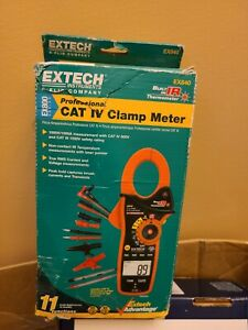 Extech clamp On Digital Clamp Meter 4 To 1400 f Temp Range 1 8 In 46mm