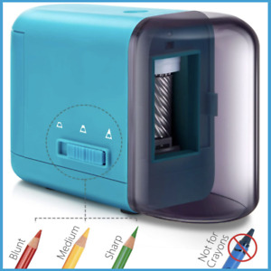 Portable Electric Pencil Sharpener For Colored Pencils 6 5 8mm W 3 Settings