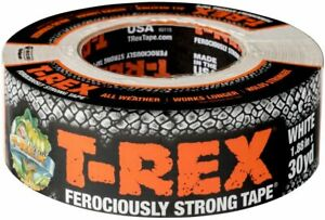 T rex Ferociously Strong White Duct Tape 1 Roll 1 88 In X 30 Yd 241534