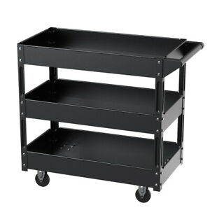 Xerath Steel 3 shelf Multipurpose Utility supply service tool Cart For Garage