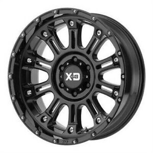 4 New 20x12 Xd Hoss 2 Gloss Black Wheel rim 8x180 Et 44