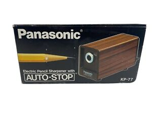Vtg Panasonic Kp 77 Electric Pencil Sharpener Auto Stop New Made In Japan