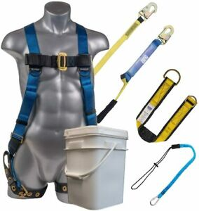 Palmer Safety 3d Fall Protection Bucket Kit I Full Body Harness 6 Shock