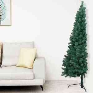 Artificial Half Christmas Tree with Stand Green 59.1quot; PVC